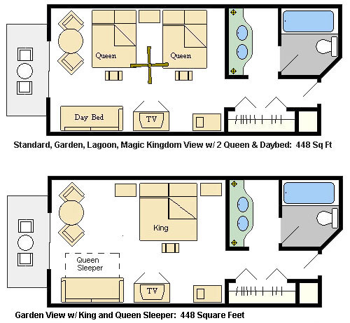 Disney's Grand Floridian Resort and Spa Room Layout Images - Frompo