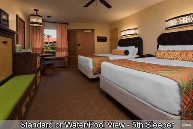 Disney's Caribbean Beach Resort - Standard or Water/Pool View - 5th Sleeper