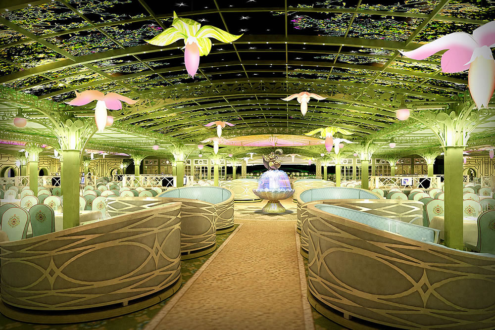 Enchanted Garden On Disney Dream Revealed Off To Neverland Travel Disney Vacations