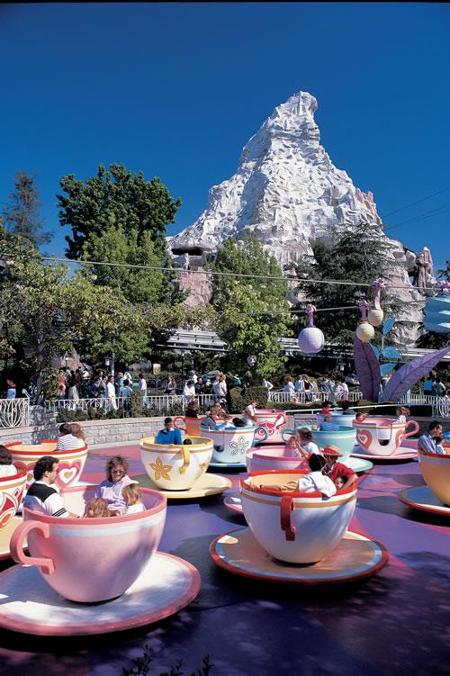Disneyland Matterhorn Mountain and Mad Tea Party