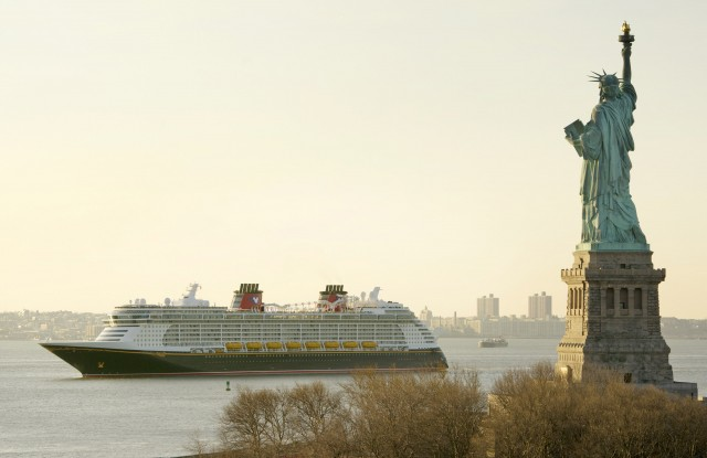 Disney Fantasy and Lady Liberty