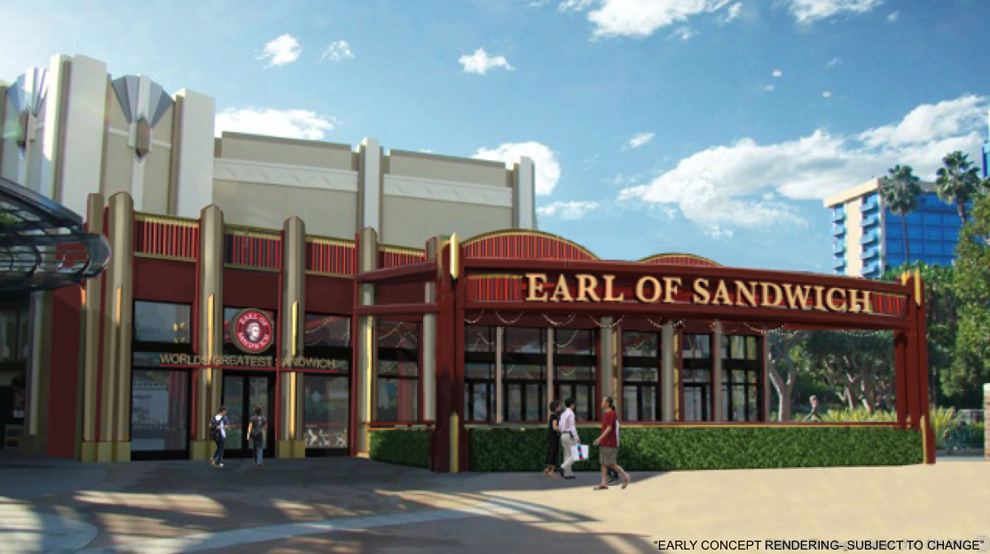 Earl of Sandwich Downtown Disney District