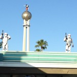 Storm Troopers patrol the front gates of Disney's Hollywood Studios during their opening show