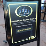 Jedi Training Academy signups are held at Indiana Jones during Star Wars Weekends