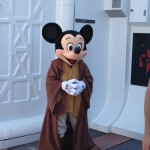 Jedi Master Mickey Mouse greeting guests