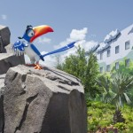 Zazu invites guests to enter the Pride Lands of 