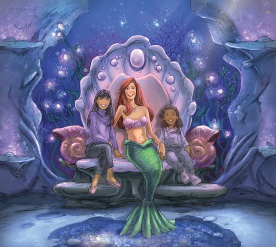 Ariel in disney world off to neverland travel disney vacations ariels grotto will be located near the under the sea journey of the little mermaid attraction but will be a separate experience m4hsunfo