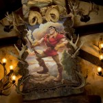 Gaston's portrait proudly on display inside the Tavern