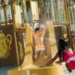 'Alice in Wonderland' themed water play area at Disney's Grand Floridian Resort & Spa