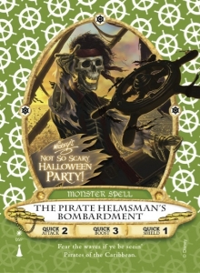 Special Helmsman pirate card only available during Mickey's Not So Scary Halloween Party