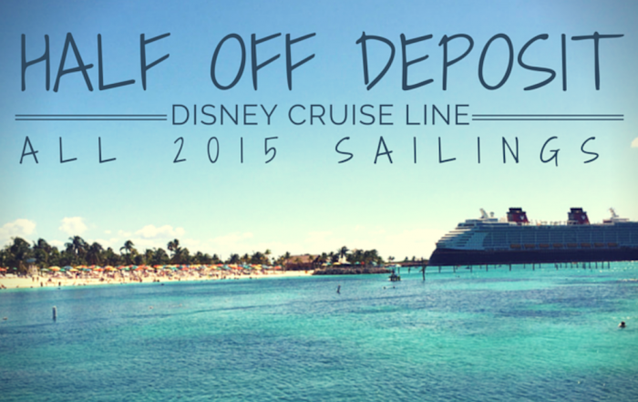 Disney Cruise Line® Offers Half Off Deposits