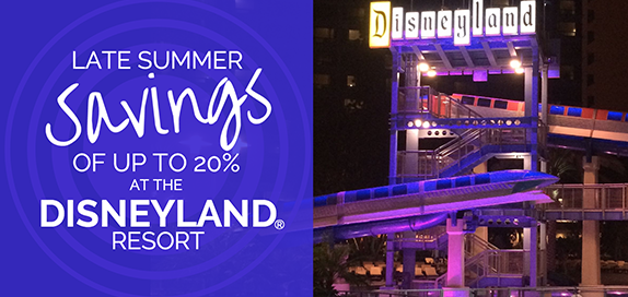 Disneyland Resort Summer Room Only Offer