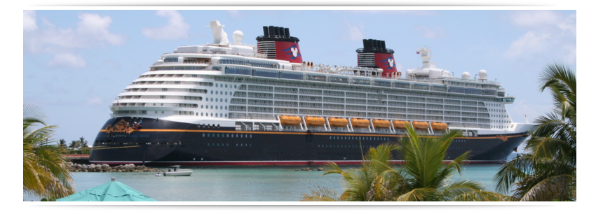 Picture of a Disney Cruise Line ship at Disney Castaway Cay