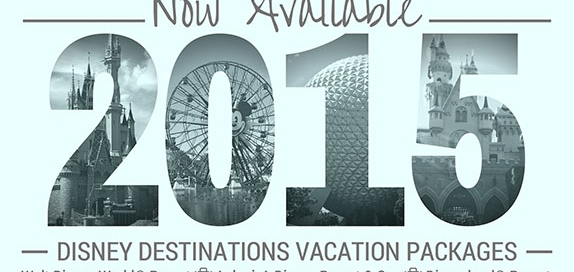 2015 Disney Destination Vacation Packages are now available
