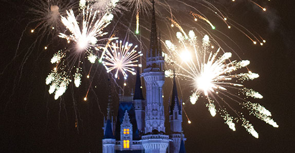 Fireworks over Cinderella Castle at Magic Kingdom Park®