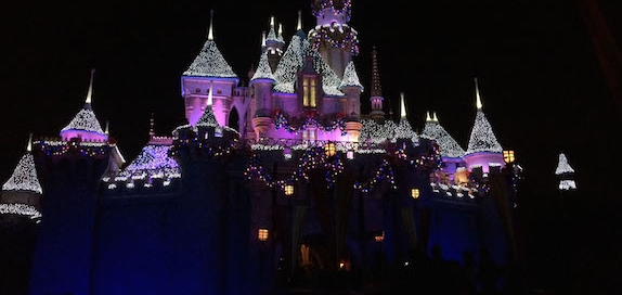 Sleeping Beauty Castle at the Holidays