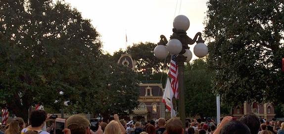 Flag Retreat at Disneyland Park
