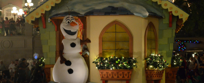 Olaf at Mickey's Very Merry Christmas Party
