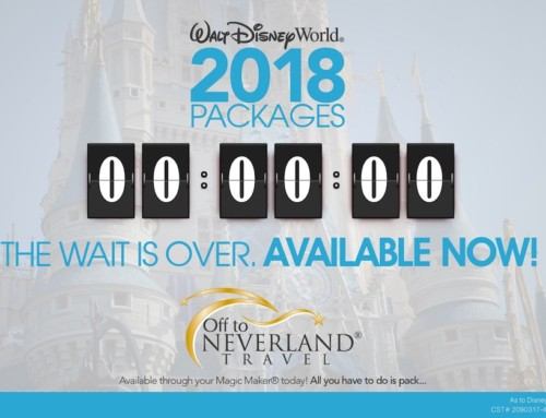 2018 Walt Disney World® Resort Vacation Packages Now Available