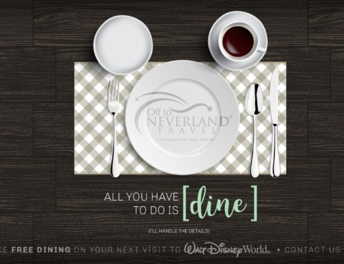 Disney Free Dining 2017 Available for Select Fall Dates