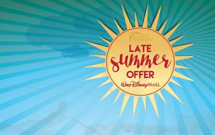 Walt Disney World Late Summer Offer