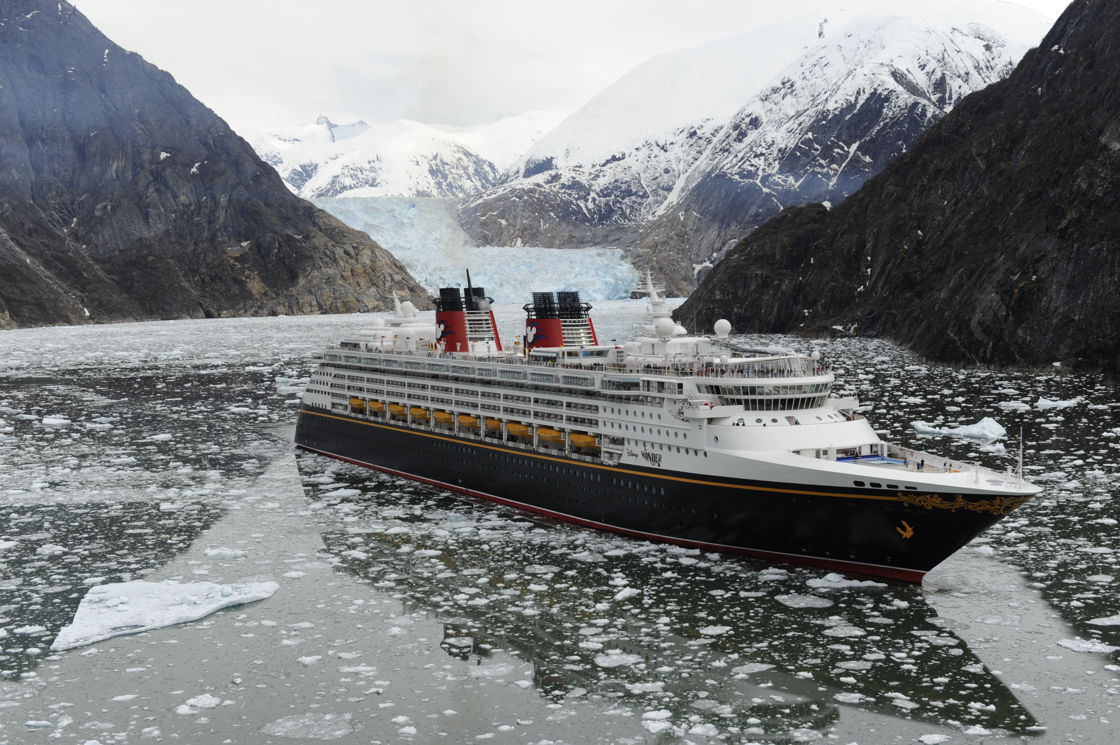 Disney Wonder sailing in Alaska
