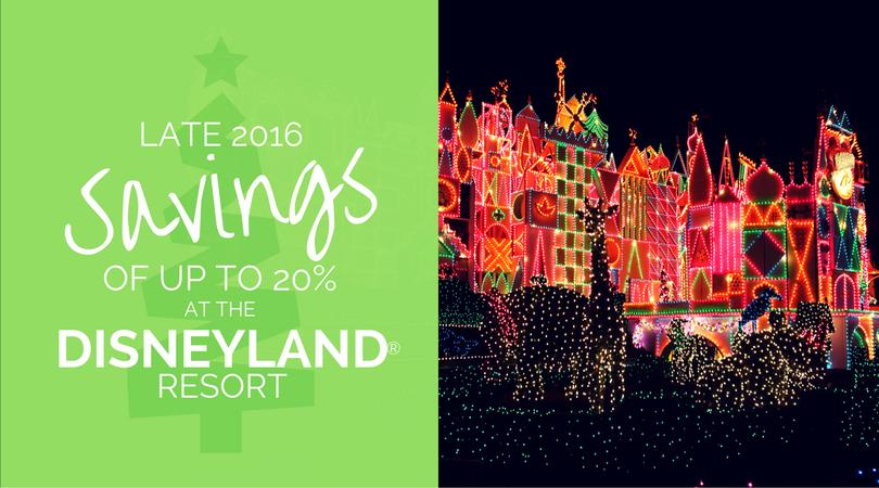 Disneyland Late 2016 Savings