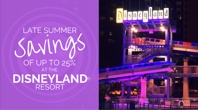 Disneyland Late Summer Savings