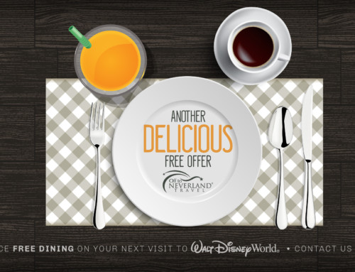 Disney Free Dining 2018 Available for Select Fall Dates