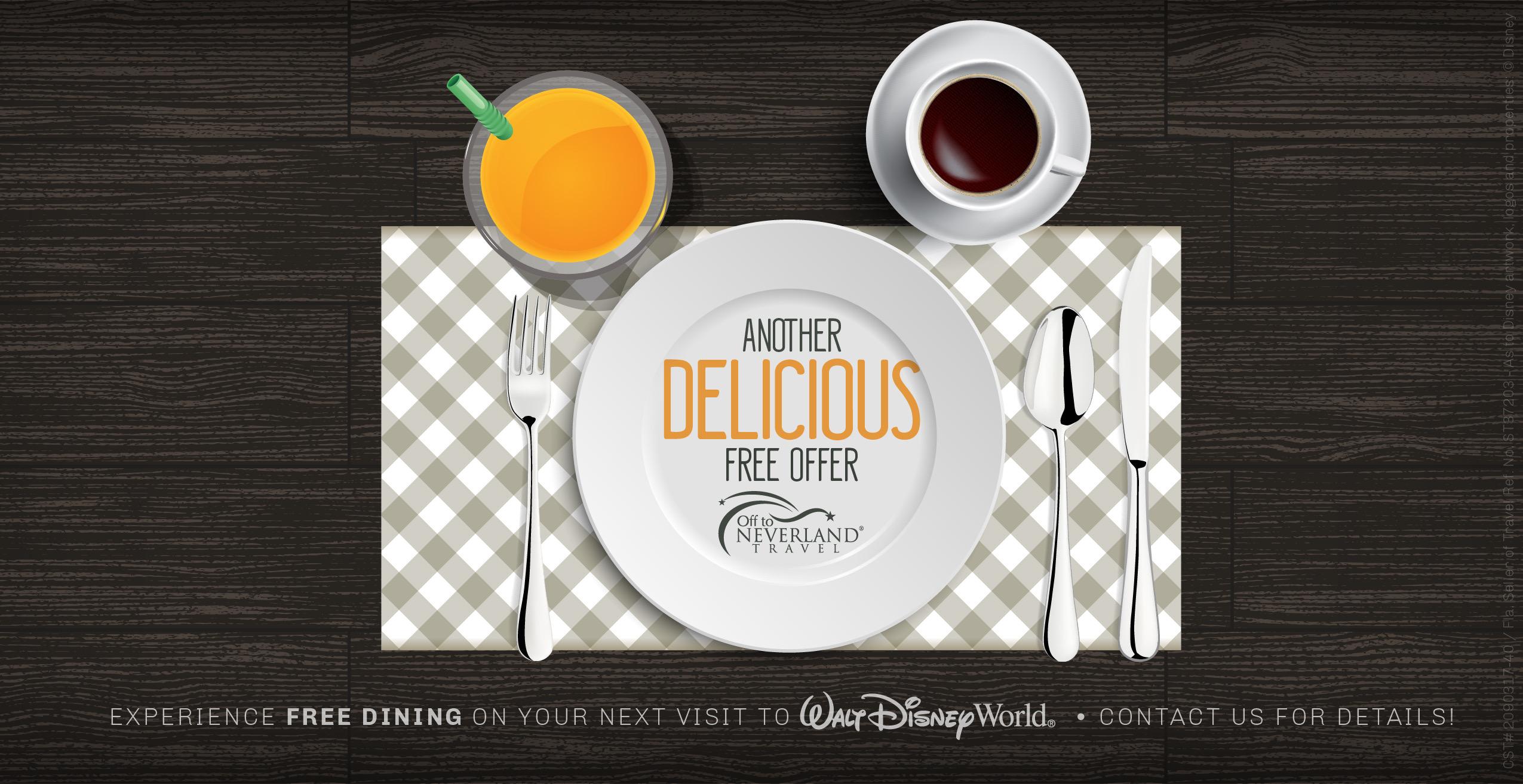 Disney Free Dining 2018