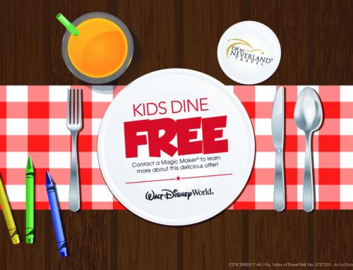 Kids Dine Free Offer at Walt Disney World® Resort