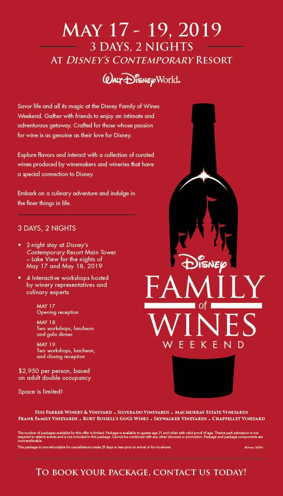 Disney Family Of Wines Weekend Off To Neverland Travel