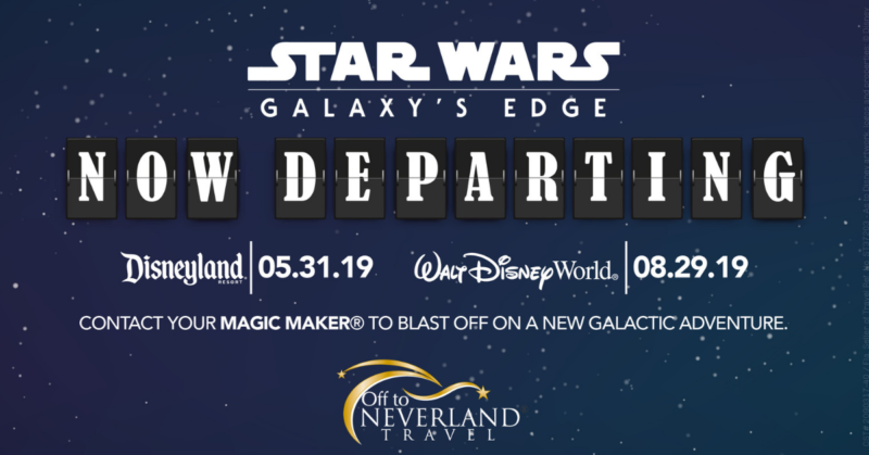 Star Wars: Galaxy's Edge is coming to Disneyland Park on 5/31/19 and Disney's Hollywood Studios 8/29/19